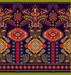 Colorful seamless ornamental pattern ethnic style vector