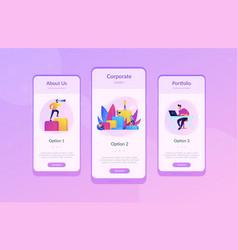 Corporate ladder app interface template vector