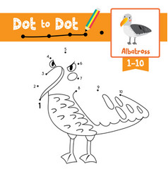 Dot to dot educational game and coloring book vector