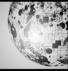 earth globe for advertising vector image