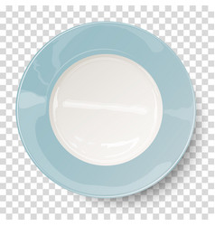 empty plate placed on transparent background vector image