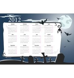 european halloween calendar 2012 vector image