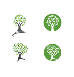 Family tree symbol icon logo design template vector