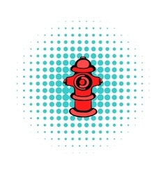 Fire hydrant icon comics style vector image