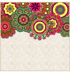 Floral background with circle flower design vector
