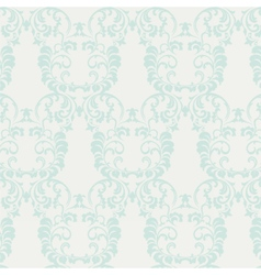 Floral ornament pattern in blue vector