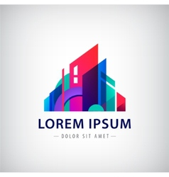 Geometric building logo icon vector
