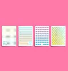geometric minimal design for cards poster flyer vector image