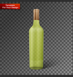 glass color wine bottle vector image
