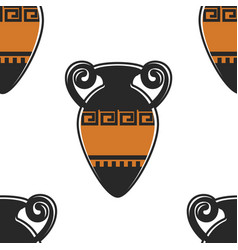 greece symbol ancient amphora seamless pattern vector image