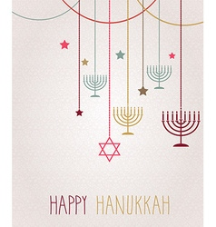 Hannukah poster vector image