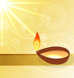 hindu diwali festival vector image