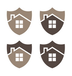 home security shield eps 10 vector image