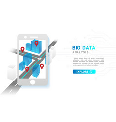 infographic big data analysis technology concept vector image