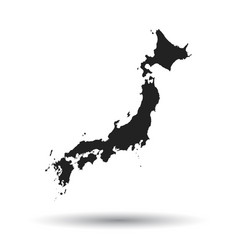 Japan map icon flat japan sign symbol with vector