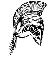legionary helmet vector image