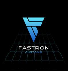 Letter f logo business futuristic logo design vector