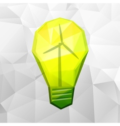 light bulb on white vector image