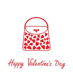 Love bag with hearts Happy Valentines Day vector image