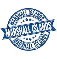 Marshall Islands blue round grunge vintage ribbon vector
