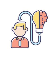 Mental ability rgb color icon vector