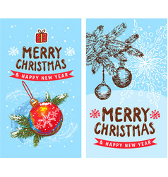 merry christmas happy new year 2019 2 funny card vector image