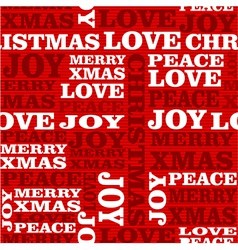 Merry Christmas text seamless pattern vector
