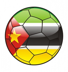 mozambique flag on soccer ball vector image
