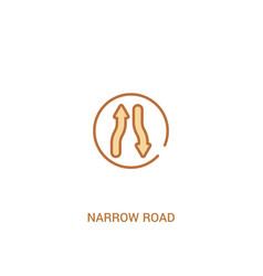 Narrow road concept 2 colored icon simple line vector