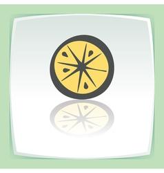 outline lemon or orange slice fruit icon Modern vector image