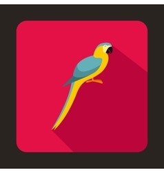 Parrot icon flat style vector image vector image