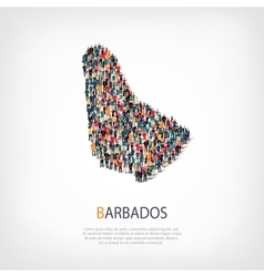 people map country Barbados vector image
