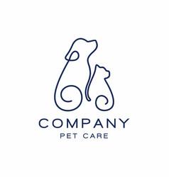pet shop logo design icon vector image