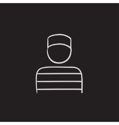 Prisoner sketch icon vector