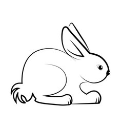 rabbit line art design vector image