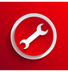 Red circle icon vector