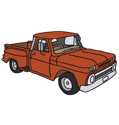 Red pick-up vector