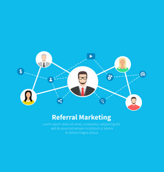 Referral marketing network marketing business vector