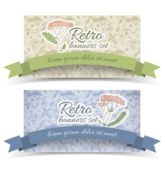 retro decorative horizontal banners vector image