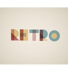 retro lettering vector image