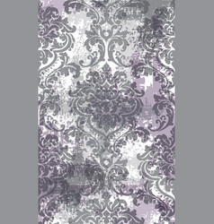 Rococo texture pattern floral ornament vector