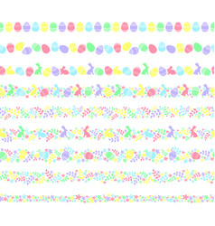 seamless easter border vector image
