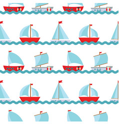 seamless pattern background with children s cute vector image