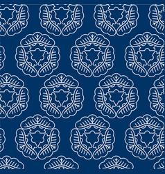 seamless pattern japanise style sashiko vector image