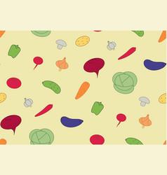 seamless pattern vegetables vegan food vector image