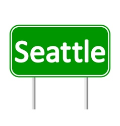 Seattle green road sign vector