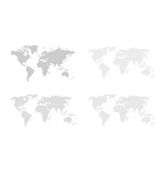 Set of blank world maps vector