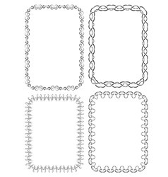 set of elegant frames on a white background vector image