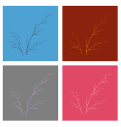 Set of flat dill isolated hand drawing flavoring vector