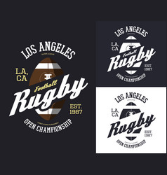 set of isolated rugby balls for t-shirt print vector image